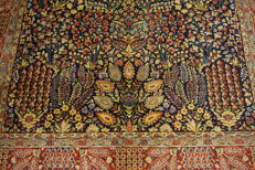 Exclusive hand-knotted Persian palace carpet old flowers Lavar Kerman patina  240 x 320 cm Tappetocarpet