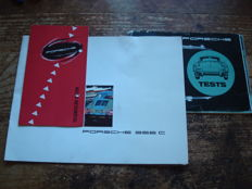 3 brochures of the Porsche 356