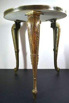 Retro table with Art Nouveau legs, Belgium, 2nd half 20th century