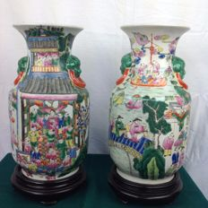 Pair of oriental vases - China - Late 20th century