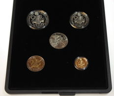 The Netherlands - 5 to 100 Euros 1997 'Set P.C. Hooft in original case' - silver and gold