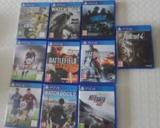 10x  PS4 Games - scratch free like watch dogs 2 + battlefield 4 + fallout 4 + Need for Speed Rivals
