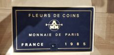 France – Paris coins – 1985 case FDC (12 coins) including 2x 100 Francs Silver