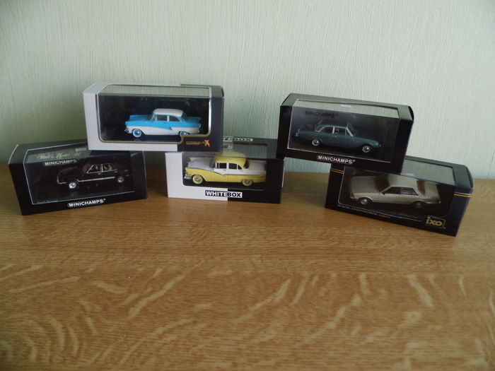 Minichamps / Ixo / White Box - Scale 1/43 - Lot with 5 models: 5 x Ford