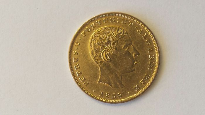 Portugal, Monarchy - Pedro V (1853-1861) - 2,000 Reis - 1859 - Gold