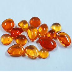 Lot Of 15 Top Most Beautiful Mexico Fire Opal  - 9.12 Ct  (15)