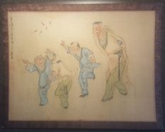 Watercolour on silk - China - mid 20th century