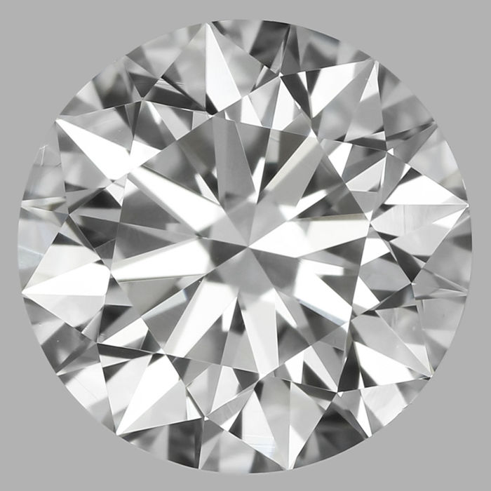 Round Brilliant Diamond 0.90 Carat , D VS2  3EX ,  Cert: GIA  #3110E -original image 10X