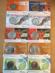 The Netherlands - 0.10, 2, 5 and 10 euro coincards & WA 2014 year pack (23 coins).