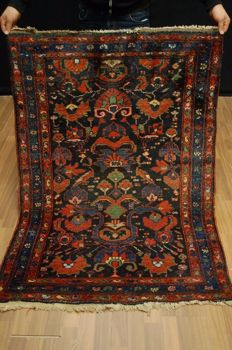 Wonderful Antique Persian Malayer Hand Made Wool Oriental Rug