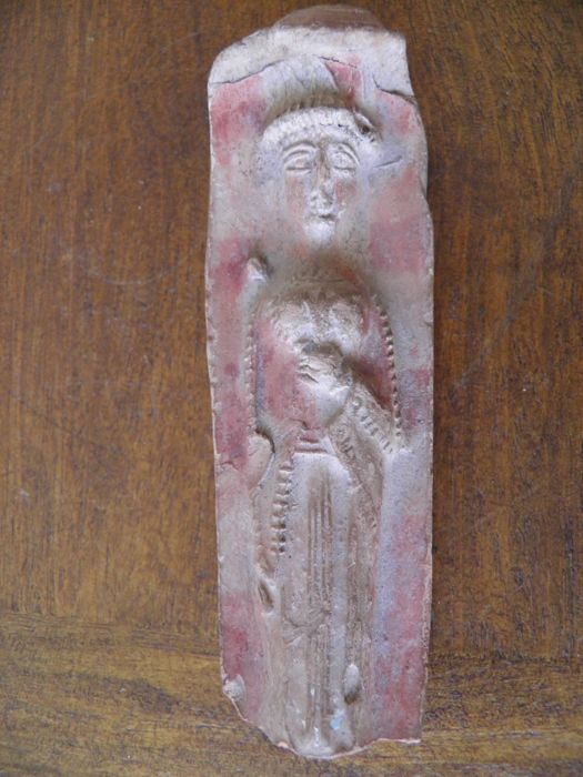 Figurine moulded in red Terra cotta height 110 mm