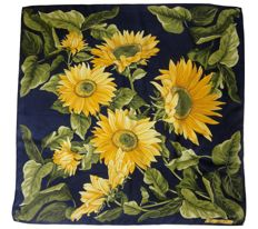 Christian Dior - scarf - sunflowers - collector's item