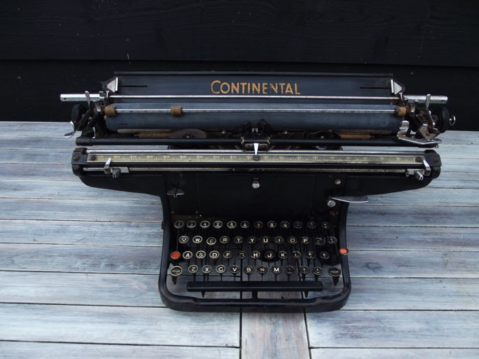 Antique Continental typewriter with extra wide carriage, Germany, circa 1930