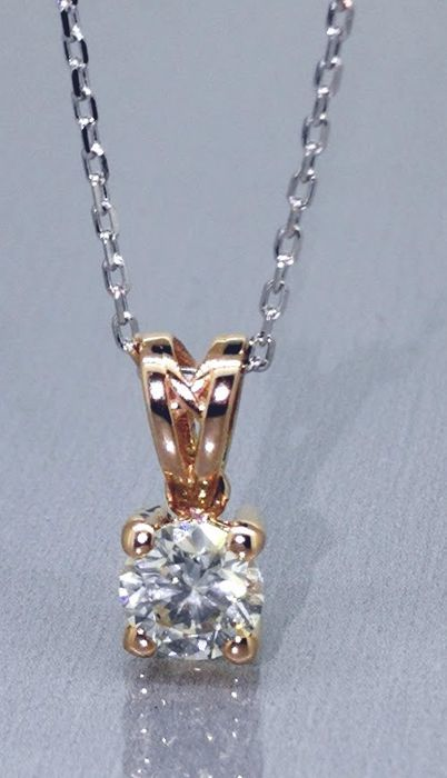 Solitaire pendant with one brilliant cut diamond of 0.30 ct *** No reserve price ***