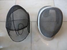 Two fencing masks, 1960s