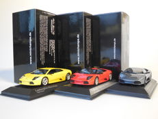 Minichamps - Scale 1/43 - Lot with 3 x Lamborghini Murcielago