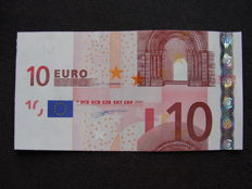 European Union - Germany - 10 euros 2002 Duisenberg - Intentionally cut wrong