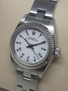 Rolex - Oyster Perpetual 18k White Gold Bezel Extra Dial - 76094 - Women - 2000-2010