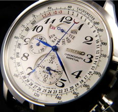 Seiko-Alarm Chronograph Perpetual Calendar Sports Watch.