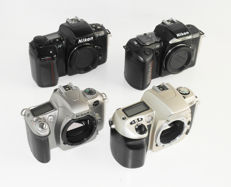 Nikon collectie:  analoge bodies: F60, F55, F-601 en F-401s