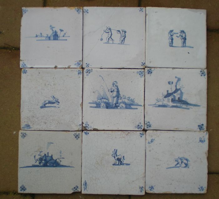 Lot with 9 tiles
