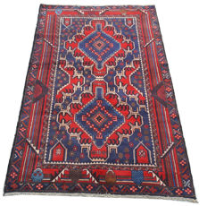 Amazing Afghan Hand Knotted Balouch Herati Carpet Area Rug 192 cm x 112 cm