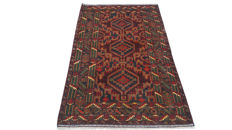 Amazing Afghan Hand Knotted Balouch Herati Carpet Area Rug 212 cm x 121 cm