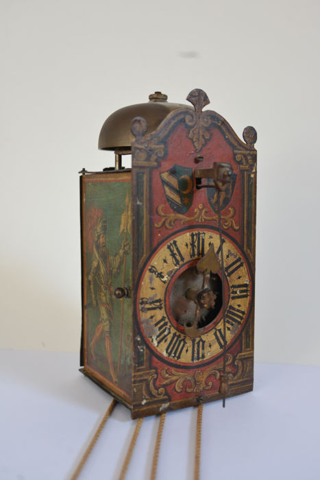 original preserved wall clock - 17th century