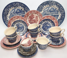 2nd half of the 20th century. China: 26 pieces Ironstone, Enoch Woods, Tudor, Meakin.