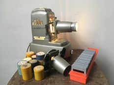 Aldis slide projector with film module, WWI slides and historical films