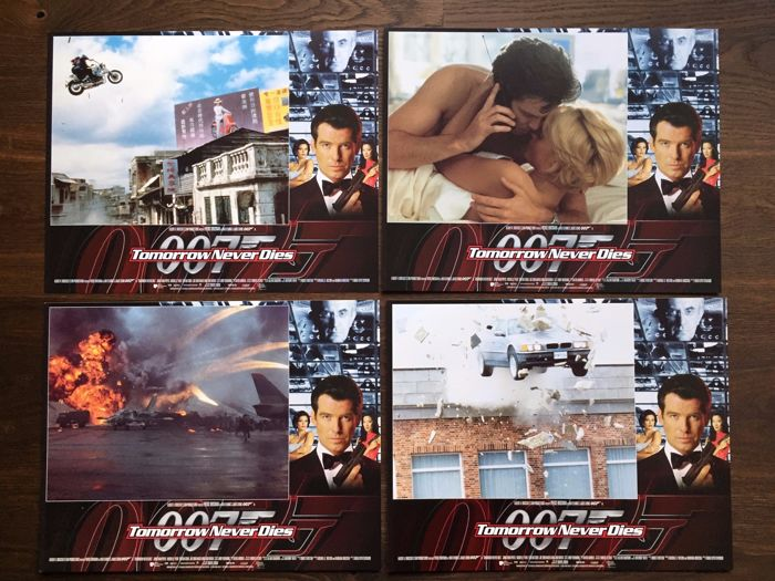 James Bond Tomorrow never dies 8 x USA Lobby Cards 1997 Pierce brosnan