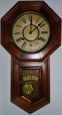 American school clock, early 20th century