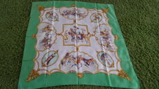 "Hermès Paris scarf - ""les Chevaux des Moghols"", designed by J de Fougerolle, in good condition"