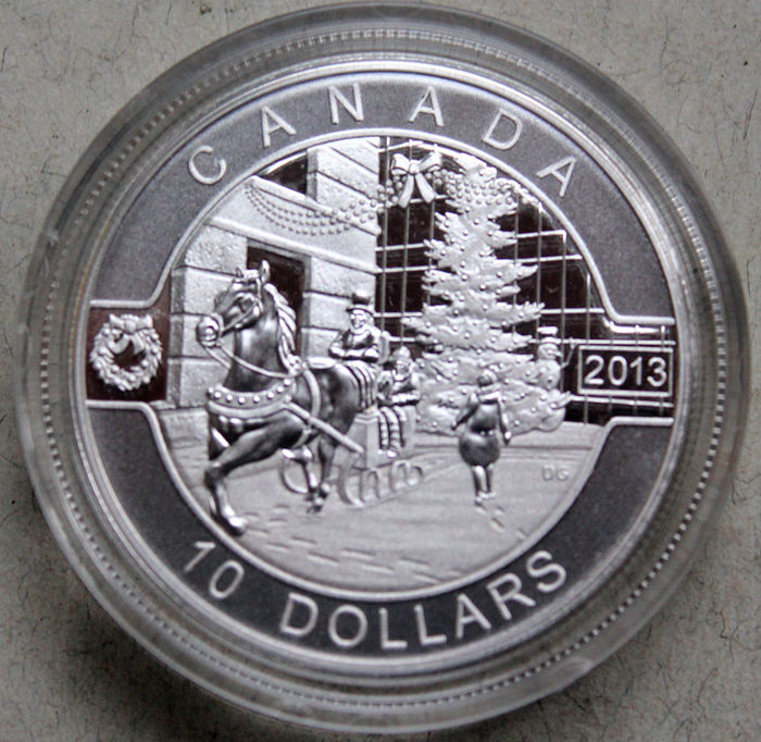Canada - 10 Dollars 2013 'Holiday Season' - silver