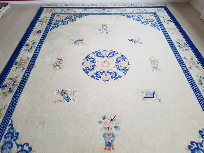 Sensational China Peking oriental carpet with certificate