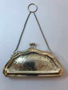 Silver belt bag for women, English, Birmingham, 1919