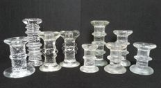 Collection of 9 with various ' Festivo ' candlesticks