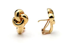 Ladies' earrings in 18 kt yellow gold