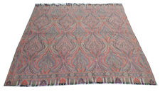 19Th Century Wool Shawl Paisley 170 cm x 168 cm