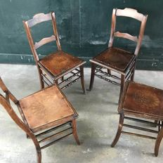 Luterma - set of four dining chairs, Estonia, ca. 1920