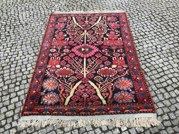 Old and Unique Persian Malayer Rug 220X140cm - Hand Knotted