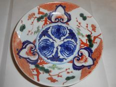 Imari plate - Iroe Nabeshima - 'Fuku' mark - Japan - Early 20th century