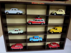 Atlas-Dinky Toys - Scale 1/43 - Lot with 8 French vintage cars from the years 1961 - 1968