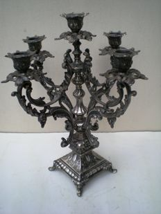 Heavy Vintage Baroque Style Candle Holder, 20th century
