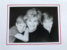 Christmas card signed by Princess Diana