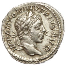 Roman Empire - AR denarius - Elagabalus - Flying Victoria (RIC 45) - 19 mm 2,88 g