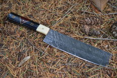 Chef Kitchen Damascus Knife Pakka  Wood