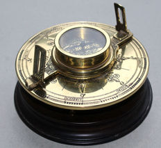 "Franklin Mint 1987 - compass ""the Theodolite"" brass"