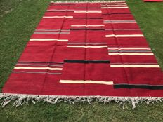 Special High Quality Stripped Hand Made Wool Kilim Rug 290 x 202 CM ( 9.5 x 6.6 Feet)