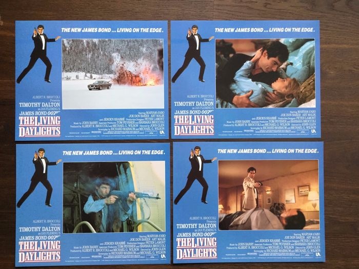 James Bond The living daylights 8 x USA Lobby Cards 1987 Timothy Dalton